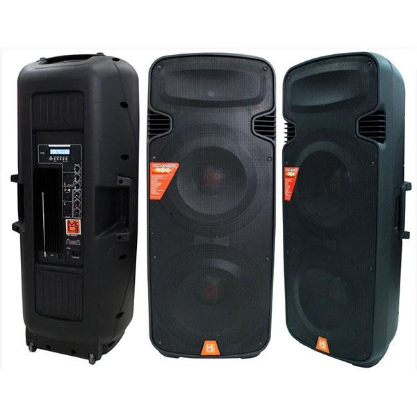 "Mr Dj Bocina Amplificada 2X15"" ,  Radio Fm,  Usb,  Sd,  Aux,  Bluetooth ,"