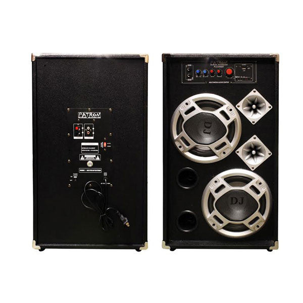 "MR DJ PATRON BOCINA AMPLIFICADA 2X8"" / RADIO FM/ USB/ SD/ AUX/ BLUETOOTH /"