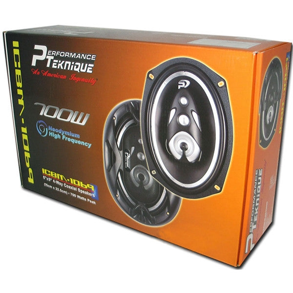 "PERFORMANCE PAR DE BOCINAS 6X9"" 4-WAY 700 WATTS"
