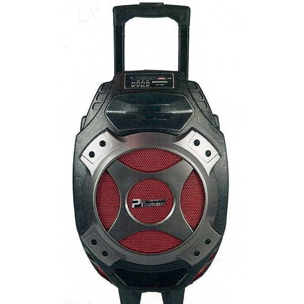 "PERFORMANCE  BOCINA PORTABLE DE 8"" RECARGABLE RADIO FM/ USB / SD / AUX / BLUETOOTH"