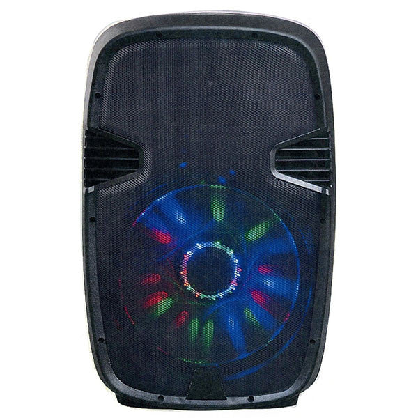 "PERFORMANCE  BOCINA AMPLIFICADA 15"" RECARGABLE/ RADIO FM/ USB/ SD/ AUX/ BLUETOOTH /MICROFONO GRATIS"