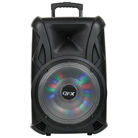 "QFX BOCINA AMPLIFICADA 15"" RECARGABLE/ RADIO FM/ USB/ SD/ AUX/ BLUETOOTH"