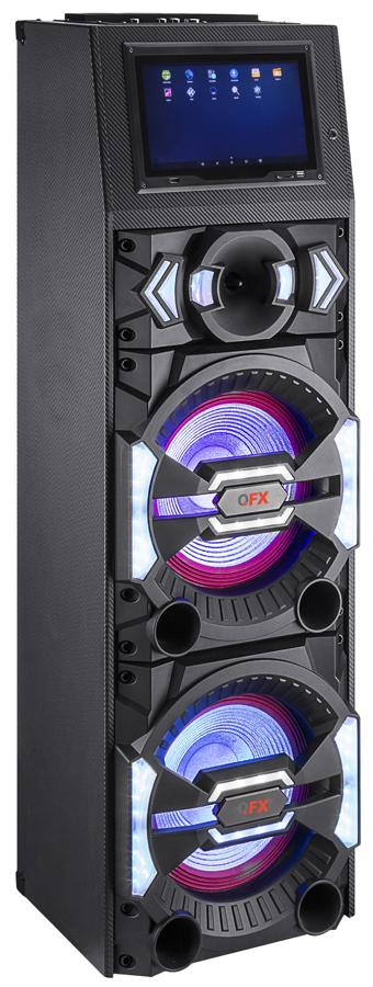 "QFX 2 x 12"" Speaker W/Wifi Touch Led Screen - Bluetooth"