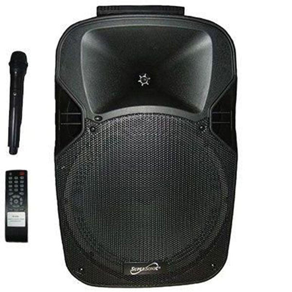 "SUPERSONIC BOCINA AMPLIFICADA 12"" RECARGABLE/ RADIO FM/ USB/ SD/ AUX/ BLUETOOTH"