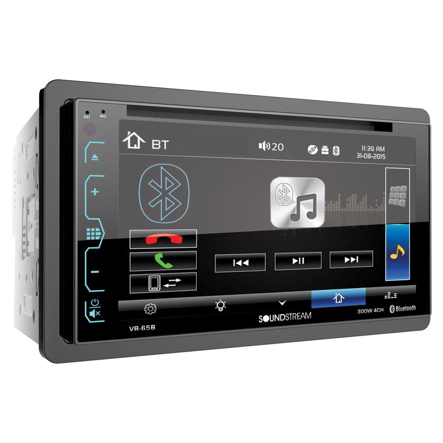 "Soundstream VR-65B Stereo 6.2"" Touchscreen 2-DIN BT DVD CD/MP3"