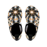 athletic slipper shoes Indoor Outdoor Athletic Slippers - Navy and Gold Kaleidoscope Lisa Ing