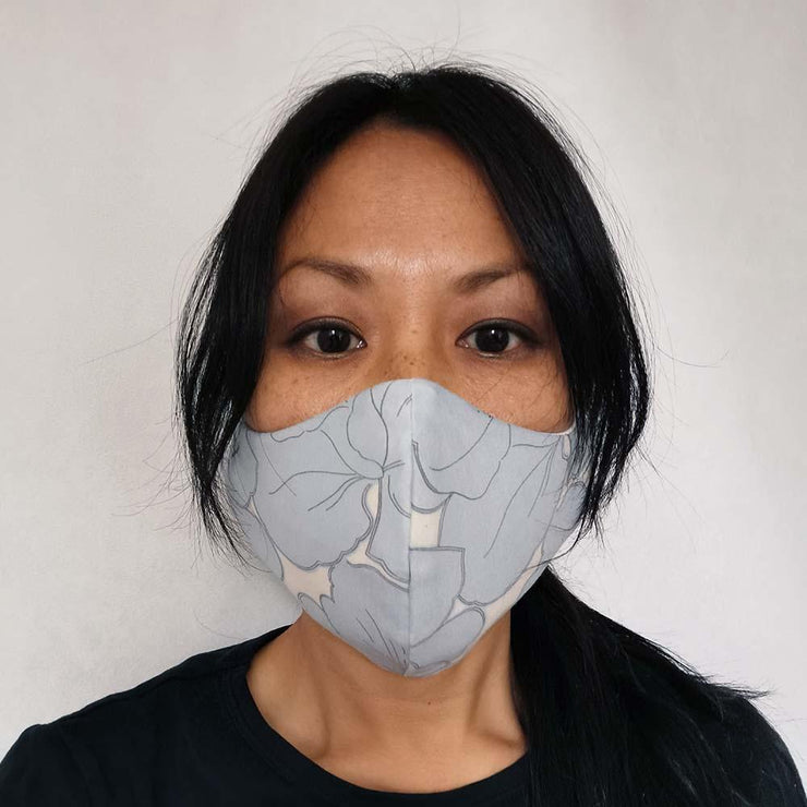 Blue Hibiscus Face Mask Lisa Ing