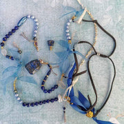 Bracelet BLUE LAGOON. Lapis Lazuli Perfume Bottle Wrap Bracelet, Necklace, and Anklet in one Lisa Ing