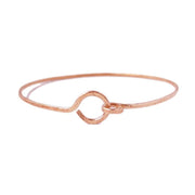 Bracelet Karma Circle and Hook Latch Bracelet Rose Gold Filled Lisa Ing