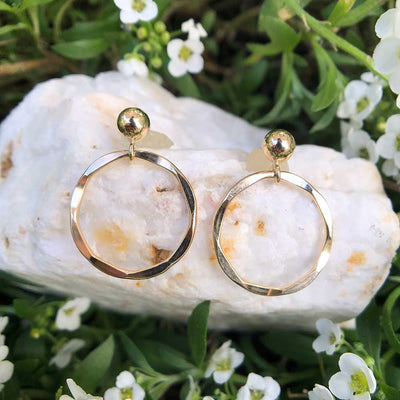 Bracelet Unity Circle Earrings 14k gold filled Lisa Ing