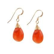 Earrings Carnelian Teardrop Earrings 14k gold filled Lisa Ing