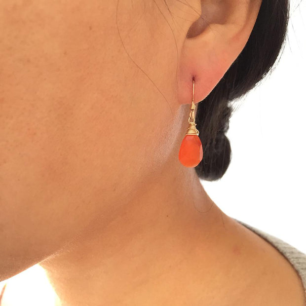Earrings Carnelian Teardrop Earrings Lisa Ing