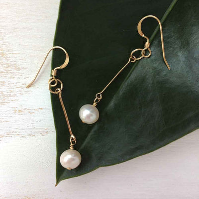 Earrings Pearl Drop Earrings Lisa Ing