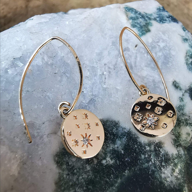 Earrings Seeing Stars Drop Hook Earrings Lisa Ing
