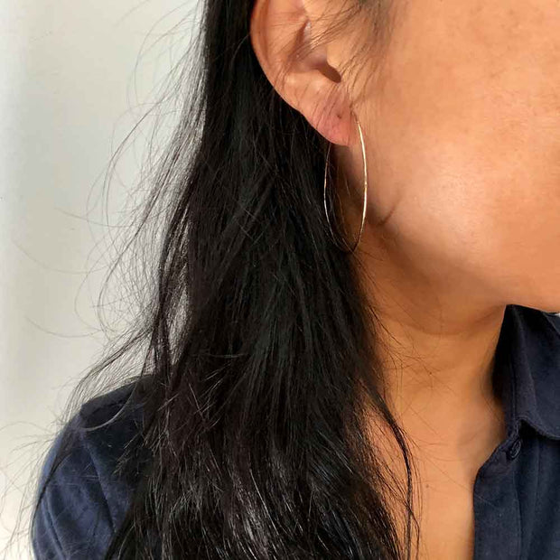 Earrings Textured Hoop Earrings Lisa Ing