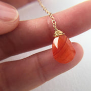 Necklace Carnelian Gemstone Y Necklace Lisa Ing
