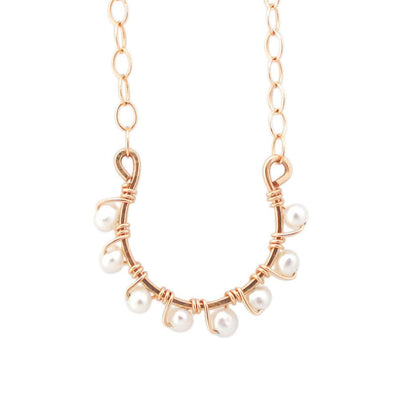 Necklace Horseshoe Necklace with Pearls 14k gold filled Lisa Ing