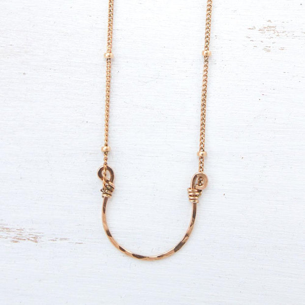 Necklace Lucky Horseshoe Necklace Gold filled Lisa Ing