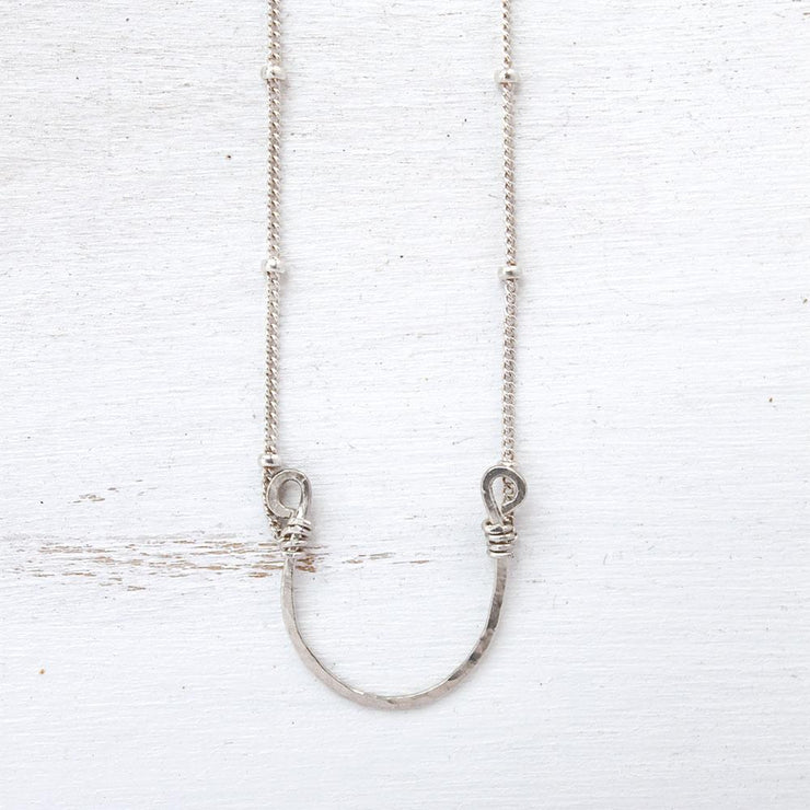 Necklace Lucky Horseshoe Necklace Sterling silver Lisa Ing