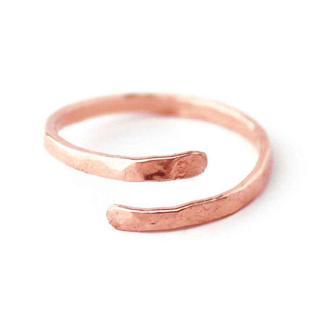 Ring Wave Wraparound Ring 5 / Rose Gold Filled Lisa Ing