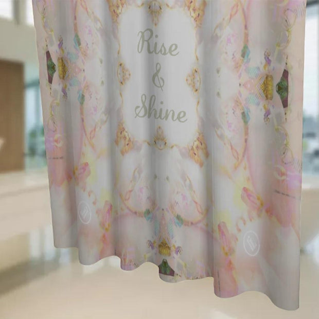 shower curtain Rise and Shine Shower Curtain Lisa Ing