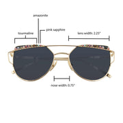 sunglasses CHLOE Cat Eye Sunglasses with Rainbow Gemstones Lisa Ing