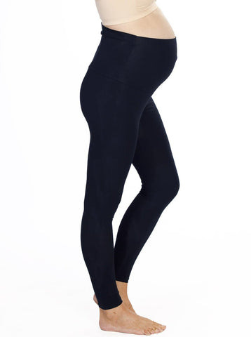 Maternity Foldable Waist Band Tight Legging - Black - Best Seller