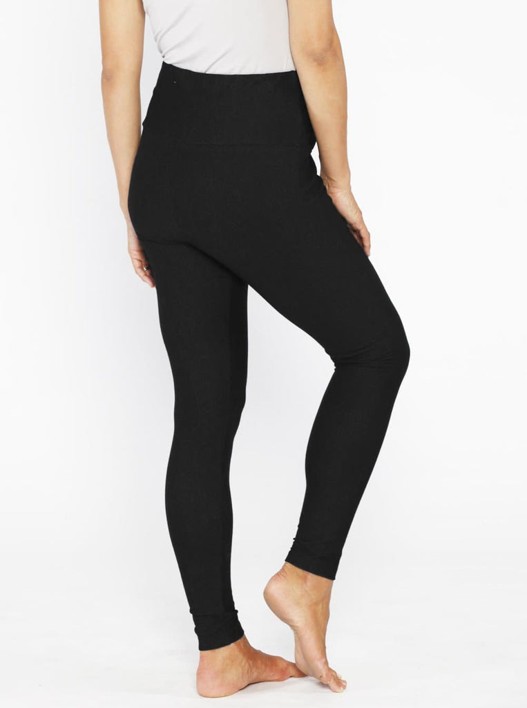 Maternity High Waist Tummy Support Jegging - Black #1P29B