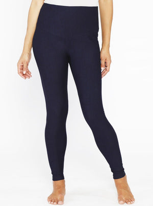 Maternity High Waist Tummy Support Jegging - Navy Denim - Angel Maternity - Maternity clothes - shop online