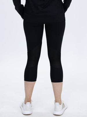 Maternity Workout 3/4 Length Legging - Black