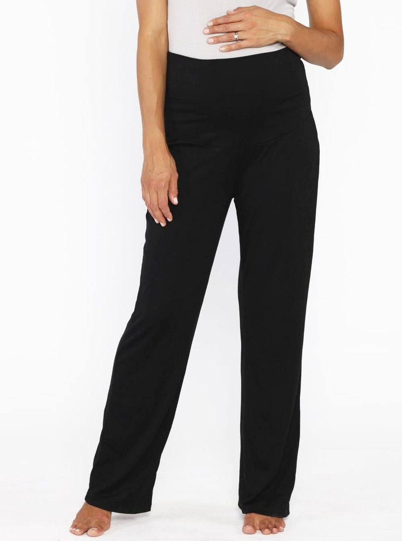 Angel Maternity Soft Luxe Lounge Pants in Black