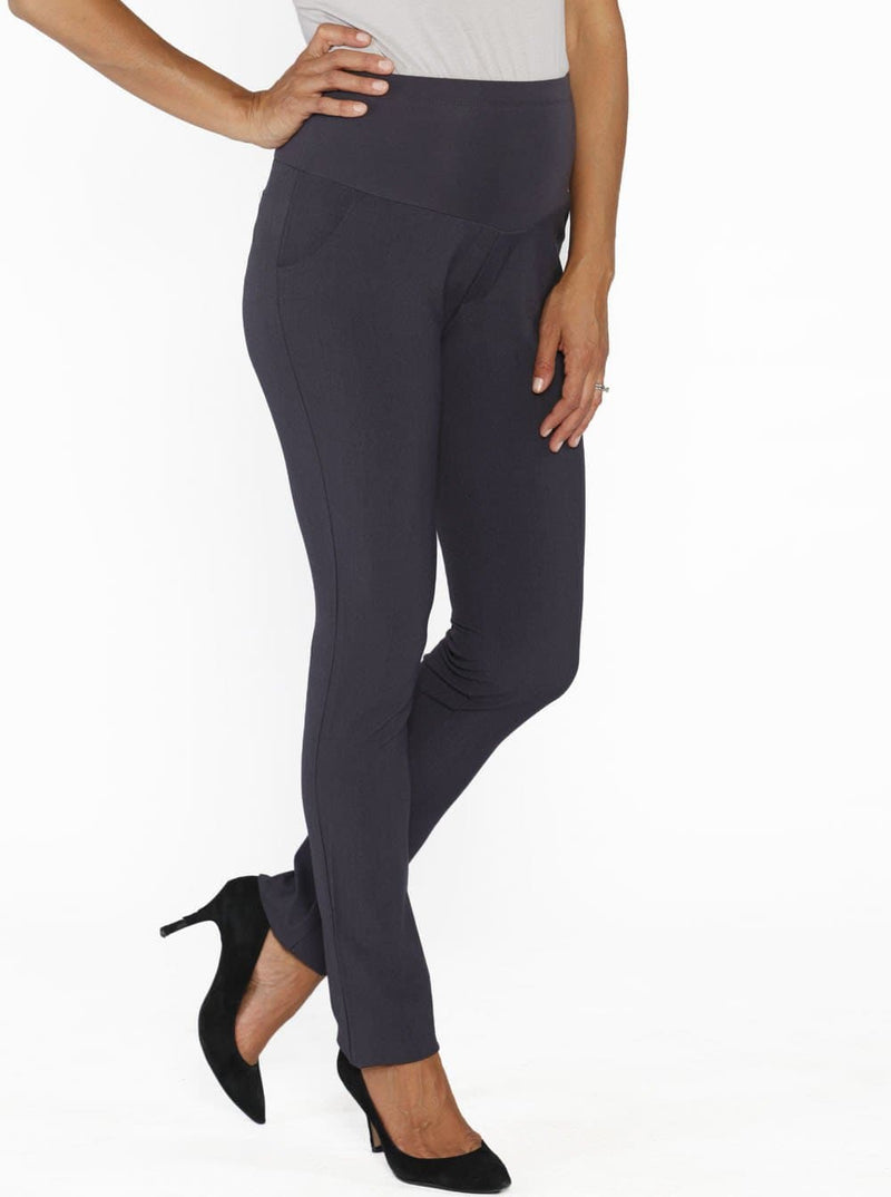 Maternity Straight Leg Work Pants - Grey - Best Sellers