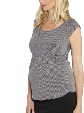 Basic Maternity Nursing Tank in Persimmon Red