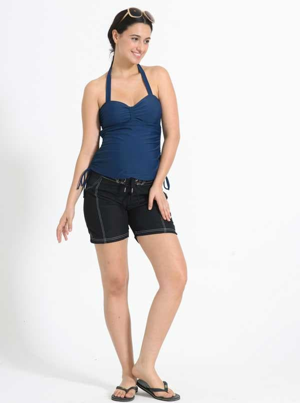 Maternity Board Short in Black with contrast stitches - Angel Maternity - Maternity clothes - shop online