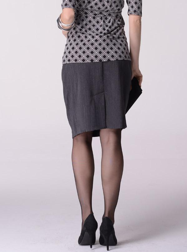 Angel Maternity  Skirt in Classic Straight Cut - Dark Charcoal