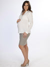Cotton Long Sleeve Maternity Shirt - White - Angel Maternity - Maternity clothes - shop online