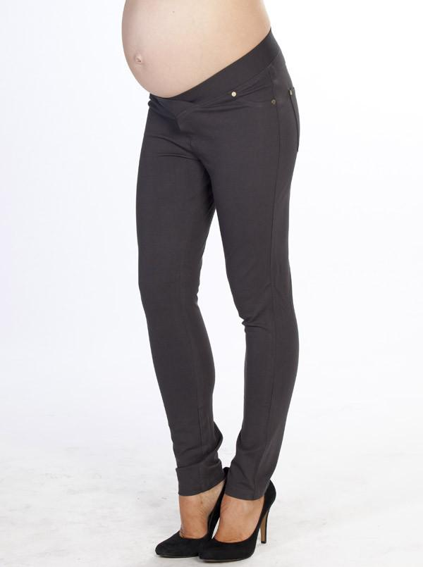 "Angel Maternity ""Miracle"" Maternity Pants - Charcoal"