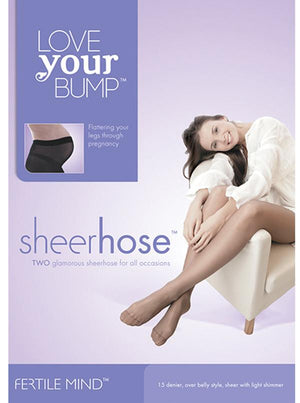 Maternity 'Fertile Mind' 2 pack Sheer Pantyhose - Nude - Angel Maternity - Maternity clothes - shop online