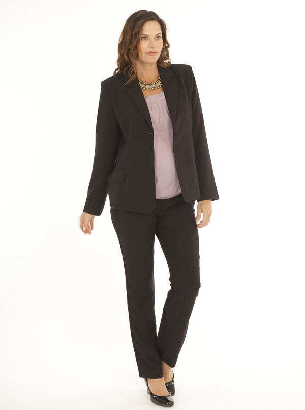 Angel Maternity Maternity Button Front Woven Work Jacket in Black