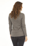 Angel Maternity Petal Front Layered Knitted Top - Grey