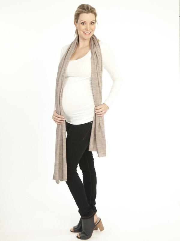 Angel Maternity Maternity Long Sleeve Tee in White