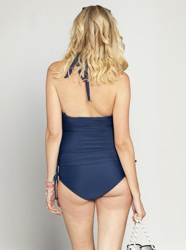 Angel Maternity One-Piece Maternity Swimwear in Navy