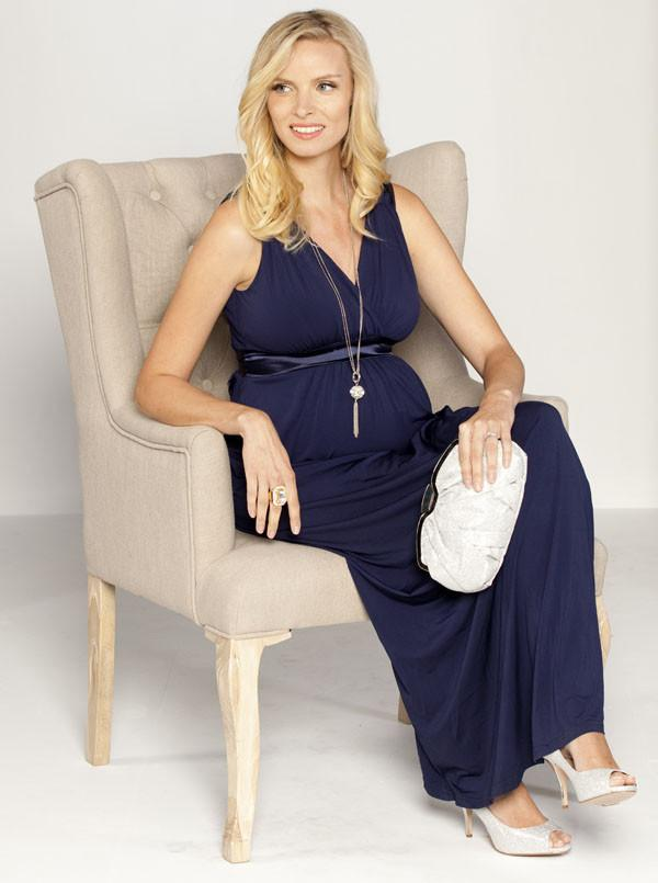 "Angel Maternity ""Sue"" Maternity Evening Dress in Black"