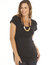 Basic Maternity Body Hugging Stretchy Tee - Black/ Grey/ White/ Pink - Angel Maternity - Maternity clothes - shop online