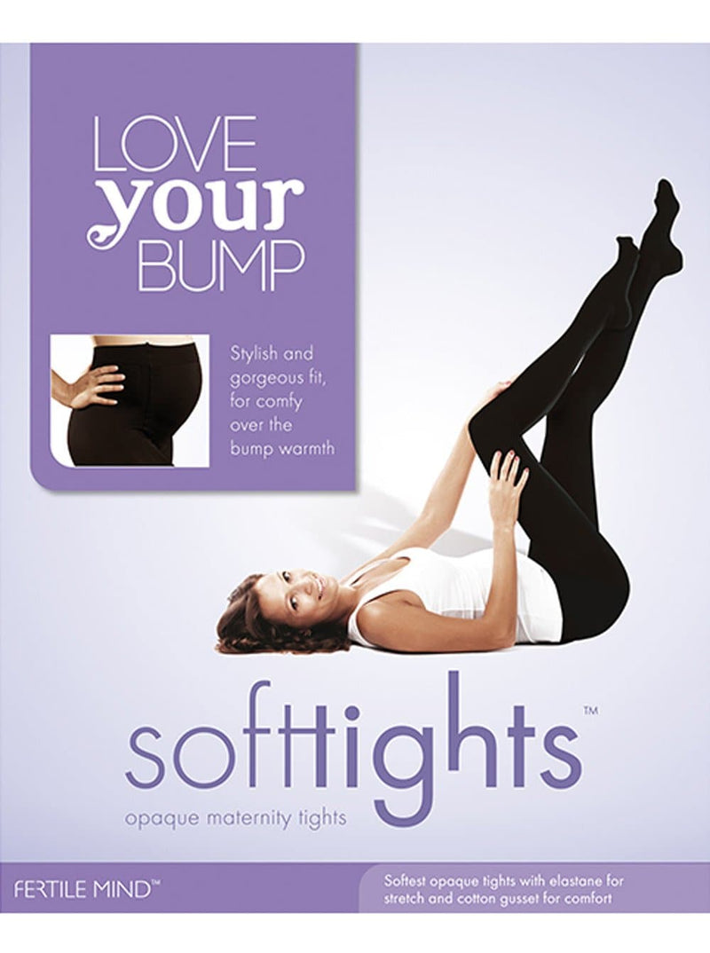 Maternity 'Fertile Mind' SoftTights Opaque Microfibre Tights - Angel Maternity - Maternity clothes - shop online