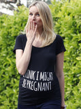 Maternity Slogan Fitted Tee
