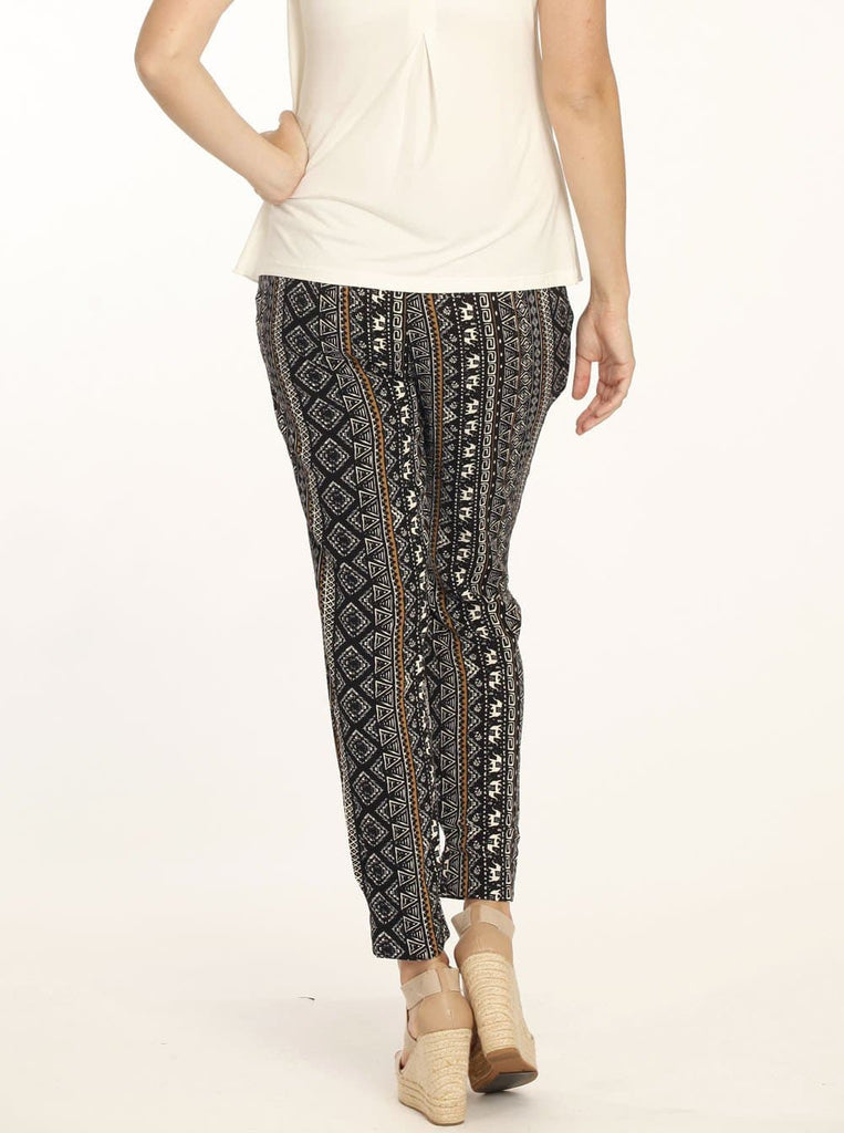 Angel Maternity Comfortable Maternity Harem Pants in Tribal Print
