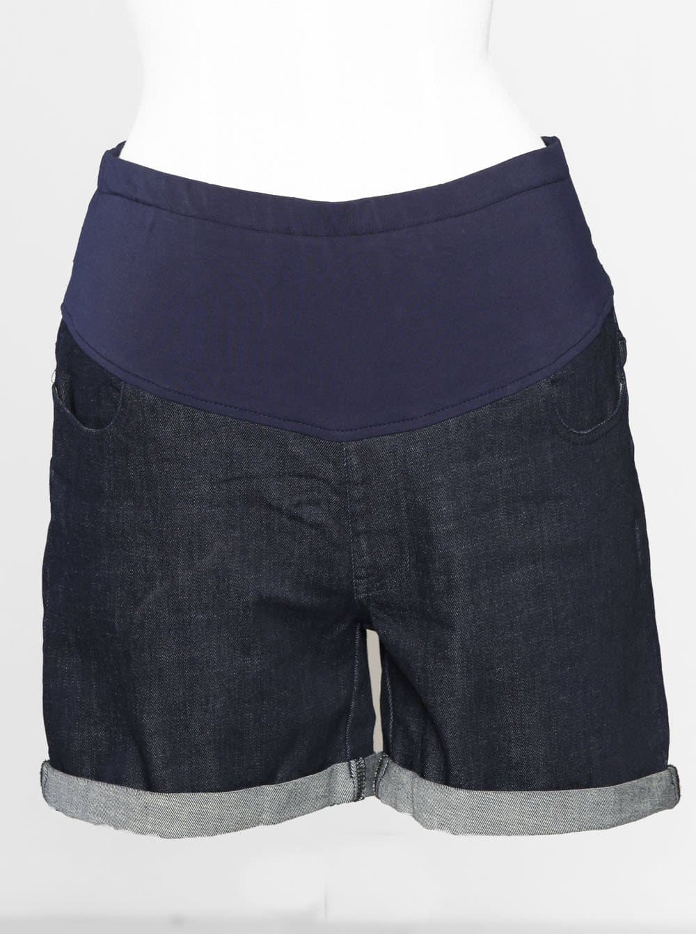 Angel Maternity Summer Denim Short - Dark Navy