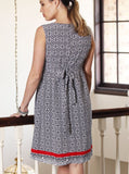 Angel Maternity Woven Dress in Navy Print