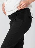 Angel Maternity Pants in Straight Slim Leg - Black